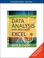 Data Analysis with Microsoft Excel - Updated for Office 2007 (Paperback, International ed of 3rd revised ed) - Kenneth Berk Photo