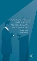 Political Parties, Parliaments and Legislative Speechmaking 2016 (Hardcover) - Hanna Back Photo