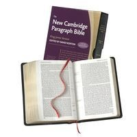 New Cambridge Paragraph Bible with Apocrypha KJ595:TA Black Calfskin - Personal Size (Leather / fine binding) -  Photo