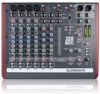 Allen and Heath Allen & Heath ZED-10 Live Studio Mixer with USB Audio Interface -Black Photo
