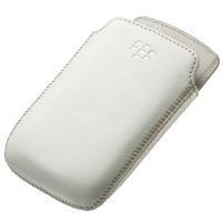 BlackBerry 9380 - Premium Leather Pocket - White Photo