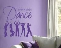 """Bedight Wall Art Bedight When In Doubt Dance"""" Dancing Figures Vinyl Wall Art Photo"""