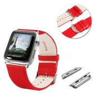 Tuff Luv Tuff-Luv Genuine Leather Wrist Watch Strap Band and Connector for Apple Watch Strap 42mm - Black Photo