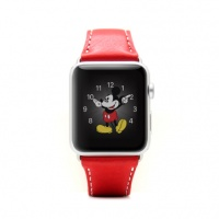 SLG Design D6 Italian Minerva Box Leather Strap for Apple Watch 42mm - Tan Photo