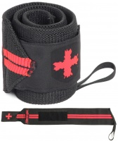 "Harbinger Hx Red Line Wrist Wraps- 18"" - Black And Red Photo"