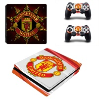 Skin nit Skin-Nit Decal Skin for PS4 Slim: Manchester United - Red & White Photo