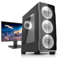 AMD RYZEN 7 1700 3.7GHz GT1030 Pro Workstation Desktop Photo