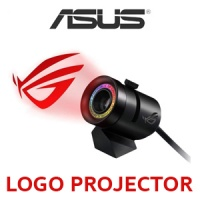 ASUS ROG RGB Spotlight Logo Projector / Synchronize Lighting With Asus Aura / 360-Degree Lens Adjustment / Magnetic Base For Easy Attachment / Customizable Lighting Effects Photo