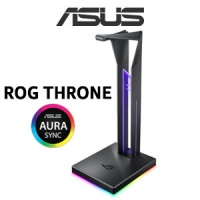 ASUS ROG Throne QI Headset Stand With Wireless Charging / 7.1 Surround Sound / Dual USB 3.1 / Aura Sync / Build-in ESS DAC and AMP / 90YH01K0-B2EA00 Photo