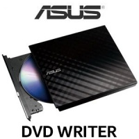 ASUS SDRW-08D2S-U LITE External DVD Writer / Drag And Burn In 3 Easy Steps / Encoded File Name Functionality / Password Control / Disc Encryption In Highest Security / 90-DQ0435-UA221KZ Photo