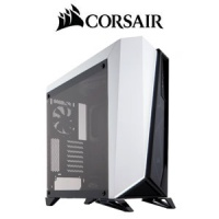 Corsair Carbide Series SPEC-OMEGA Mid-Tower Gaming PC Case - Black/White / Asymmetrical Angular Design / Tempered Glass Side and Front Panels / LED lighting / Two included SP120L 120mm fans / CC-90111 PC case Photo