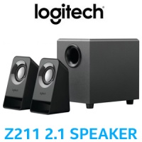 Logitech Z211 Compact 2.1 Multimedia Speaker System / Rich Sound In Compact Design / Volume Control From Device / Headphone Jack / 980-001269 Photo