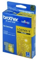 Brother LC67HY-Y High Yield Yellow Ink Cartridge Photo