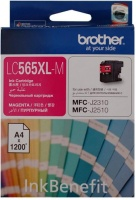 Brother LC565XLM High Yield Magenta Ink Cartridge Photo