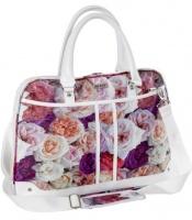 """Black 15.6"""" Ladies Shoulder Sling Bag - Rose Design Photo"""