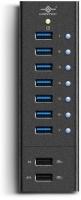 Vantec 7 port USB 3.0 Aluminum Smart Charging Hub Photo