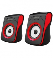 Astrum SU100 2.0 USB Portable Speakers - Black & Red Photo