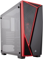 Corsair Carbide Series SPEC-04 Tempered Glass Mid-Tower Gaming Case Black/Red PC case Photo