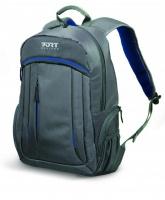 """Port Designs MEGEVE 15.6"""" Notebook Backpack - Grey & Blue Photo"""