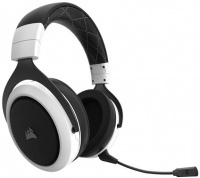 Corsair HS70 Wireless 7.1 Surround Sound Gaming Headset - Black & White Photo