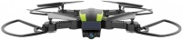 Helicute Aviator Folding Drone - Black and Green Photo