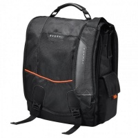 "Everki Urbanite 14.1"" Notebook Messenger Bag Black and Orange Photo"