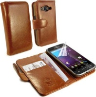 Tuff Luv Tuff-Luv Vintage leather Stand case for Samsung Galaxy Core Prime - Brown Photo