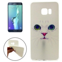 Samsung Lovely Cat Pattern TPU Protective Case for Galaxy S6 Edge / G928 Photo
