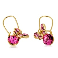 SDP 1 Pair Glittering Crystal Butterfly Style Pendant Earrings Photo
