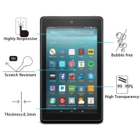SDP 100 piecesS 0.3mm 9H Full Screen Tempered Glass Film for Amazon Kindle Fire 7 2017 Photo