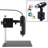 SDP 1.3 Mega Pixels 1000X USB Digital Microscope with 8 LED Lights / Holder Photo