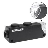 ONKIZA 60X-100X Zoom & Focus LED Illuminated Microscope Pocket Magnifier Jewelry Loupe Photo