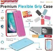 Promate Lanko-i6 Leather Flexible Snap-on Case - Pink Photo