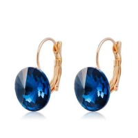 SDP 1 Pair Round Crystal Earrings for Female Photo