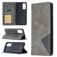 ONKIZA For Samsung Galaxy S20 FE 5G / S20 Lite Rhombus Texture Horizontal Flip Magnetic Leather Case with Holder & Card Slots Photo