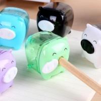 SDP 10 piecesS Deli Mini Pig Manual Pencil Sharpeners Kids Friendly at Home Office School Random Color Delivery Photo