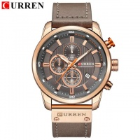 South African Importers Top Brand Luxury CURREN 2018 Fashion Leather Strap Quartz Men Watches Casual Date Business Male Wristwatches Clock Montre Homme - silver blue Photo