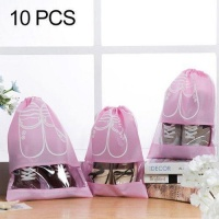 SDP 10 piecesS D-POCKET Non-Woven Drawing Belt Shoe PouchSmall Size Photo