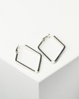 Joy Collectables Ladies Fashion Drop Earrings 4cm Silver-tone Photo