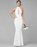 City Goddess London Embellished Maxi Wedding Dress White Photo