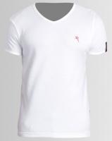 Soviet Men's Bolt Evo Core Short Sleeve V-neck Muscle T-shirt White Photo