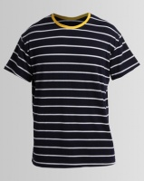 Unruly Stripe Contrast Oversize Tee Navy/White Photo