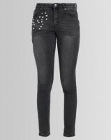 Pearl & Jewel Embellished Skinny Jeans Black Photo