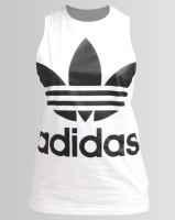 adidas Trefoil Tank White Photo