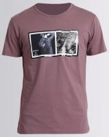 Josalem Photographic Print Slim Fit Tee Purple Photo