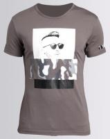 Josalem Camo Face Print Slim Fit Tee Grey Photo