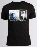 Michael Farwhale Wave Print Slim Fit Tee Black Photo