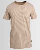 Silent Theory Stripe Pocket T-Shirt Beige Photo