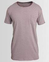 Silent Theory Stripe Pocket T-Shirt Burgundy Photo