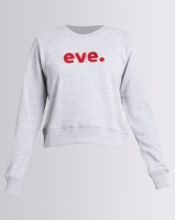 All About Eve Printed Crewneck Sweatshirt Grey Photo